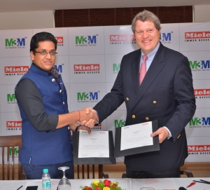 Pankaj Bansal, Director-M3M India with Dr. Reinhard Christian Zinkann, the proud co-owner and managing director of Miele Group, Germany, India real estate news, Indian realty news, India property market, Luxury real estate, Gurgaon real estate