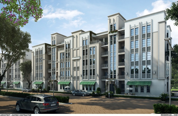 Olympeo Riverside - Bldg Elevation, Brick Eagle, Prabhat Ranjan, Indian real estate news, India realty news, India property market, Mumbai real estate, Track2Media Research, Track2Realty, Husing market, Residential project launch