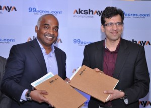 Akshaya & 99acres.com, iHomes, Indian real estate market, India property market, India real estate news, Track2media Research, Track2Realty